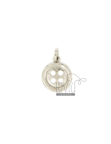CHARM BUTTON 13 MM Silber...