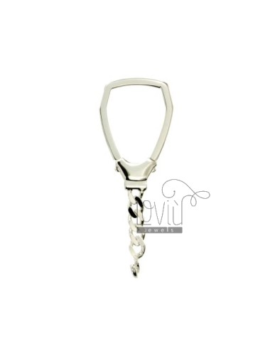 HOOK KEY HOLDER TRIANGLE MM 47X27 SILVER TITLE 925