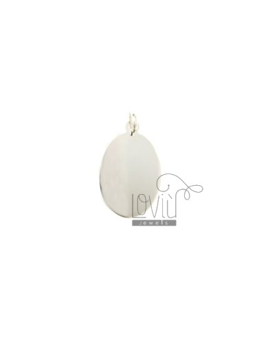 PENDANT OVAL MM 26x16 SMOOTH PLATE 0,6 MM SILVER TITLE 925 ‰