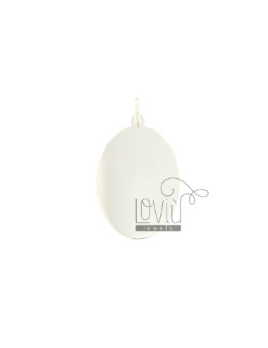 PENDANT OVAL MM 35x23 SMOOTH PLATE 0,8 MM SILVER TITLE 925 ‰
