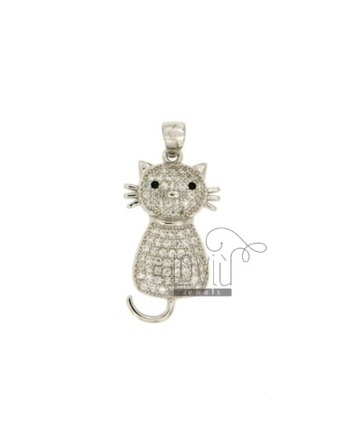 CAT PENDANT MM 24X13 WITH...
