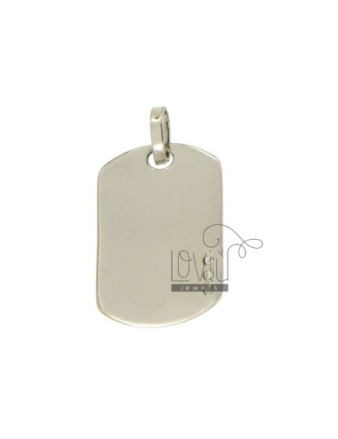 CHARM MEDAL MILITARY 25X15 MM WITH 3 ZIRCONIA SILVER RHODIUM TIT 925 ‰