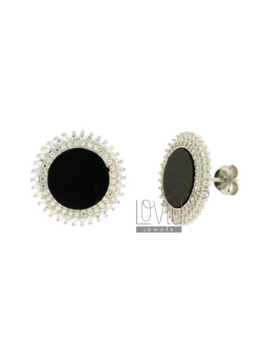 18 MM ROUND EARRINGS WITH...
