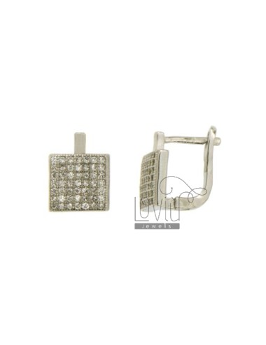 EARRINGS WITH SQUARE MM 9X9...