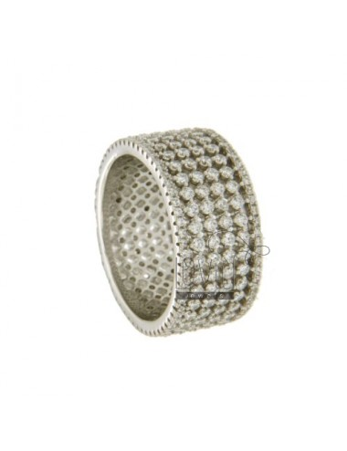 RING BAND 11 MM WITH PAVE...