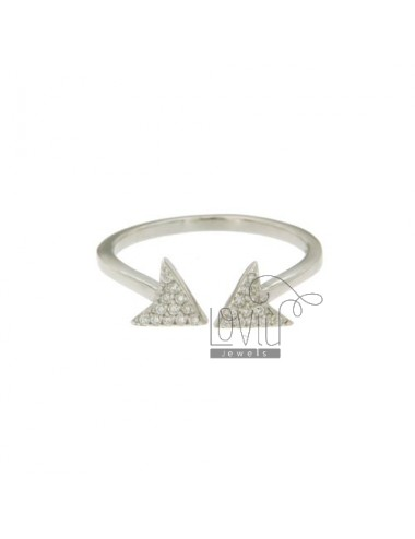 Arrow ring with pave 'of...