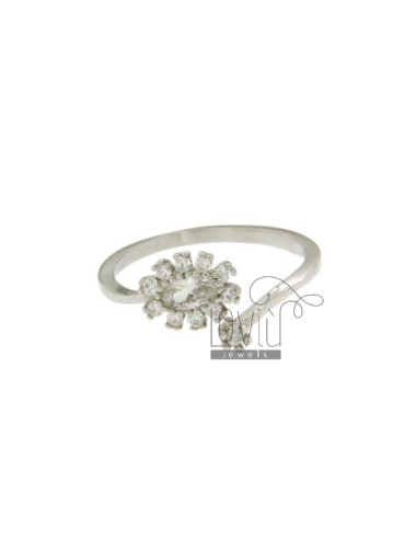 CONTRARY OVAL RING WITH...
