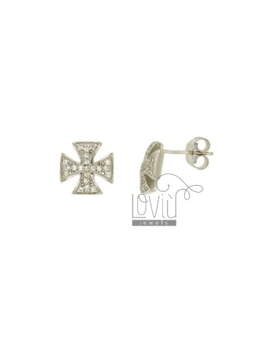 LOBO EARRINGS CROSS MALTA...