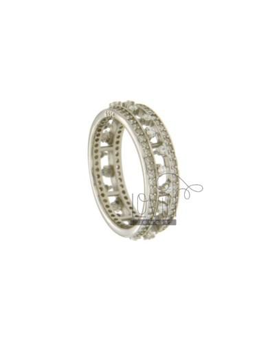 6 mm band ring en plata del...