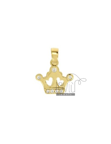 CHARM CROWN MM 15X15 SILVER...