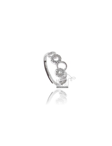 Bubbles ring with zircon...