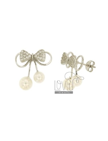 BOW EARRINGS WITH PAVE 'OF...