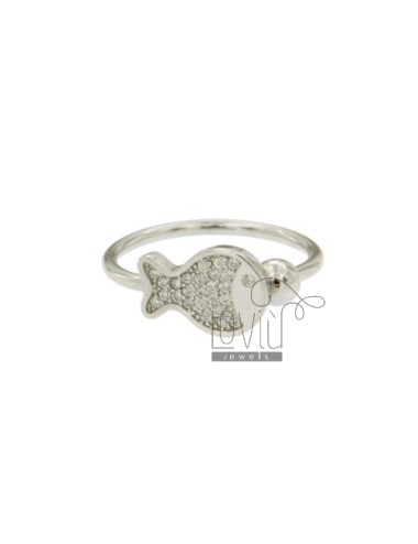CONTRARY FISH RING WITH...