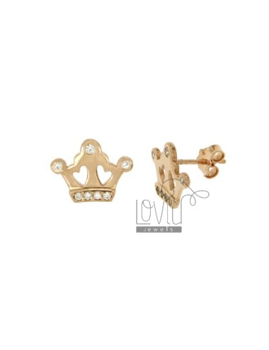 EARRINGS CROWN MM 15X15...