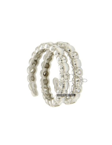 SNAKE RING WITH HALF BALL...