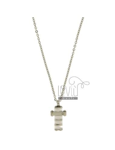Cross pendant mm20x13 steel...