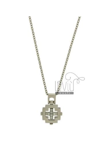 Cross pendant mm21x20 steel...