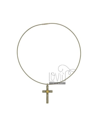 CROSS PENDANT STEEL MM...