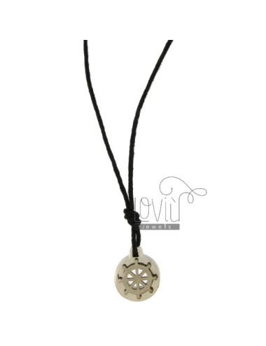 Pendant RUDDER STEEL 15 MM WITH LACE SILK CERATA