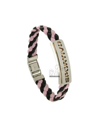 Bracelet in pink and black...