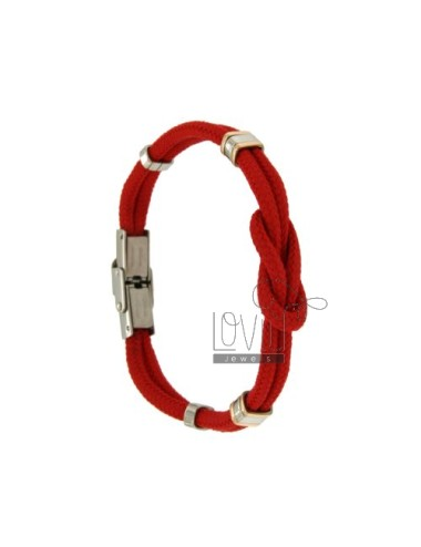 BRACELET RED ROPE WITH...
