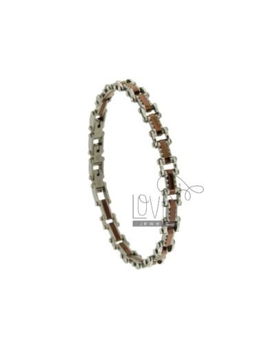 Bracelet steel two tone...