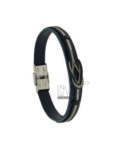 'blue' rubber bracelet and...