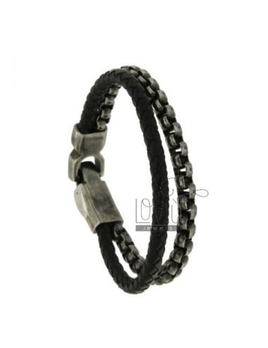 Armband aus Leder und Kette...