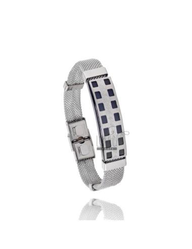 Bracelet steel mesh tessita...