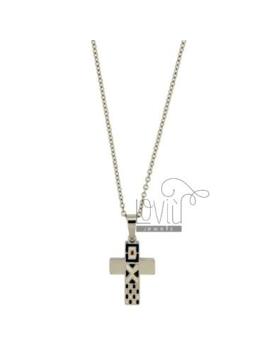 Cross pendant steel mm...