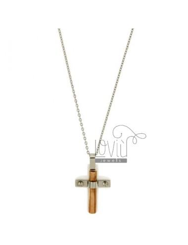 Cross pendant stahl und...