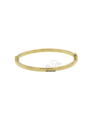 BANGLE REED FLAT OVAL MM 4X2 WITH GREEK IN SILVER TIT 925 ‰