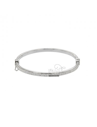 BANGLE REED FLAT OVAL MM 4X2 WITH GREEK SILVER RHODIUM TIT 925 ‰