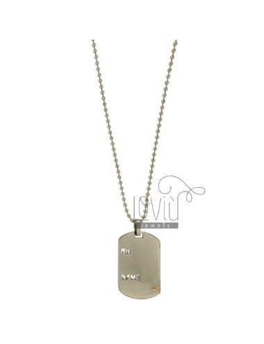 Chain militär 2 cm 60 mm...