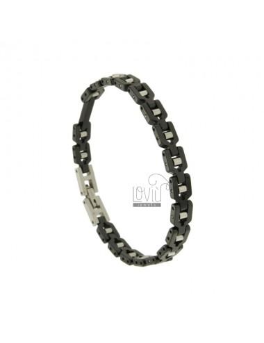 Bracelet in black ceramic...
