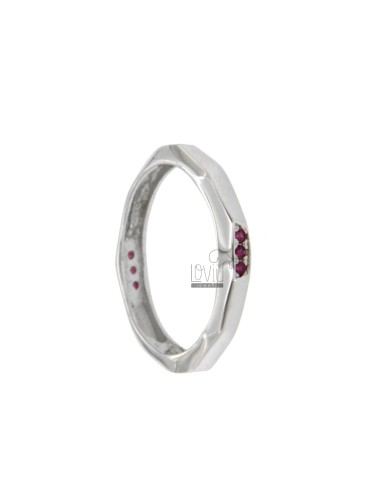 Silver ring rhodium tit 925...