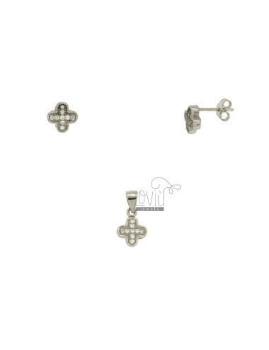 Ohrringe und Silber Kreuz...
