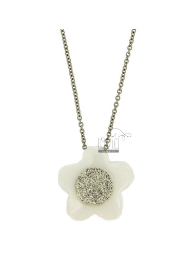 Flower pendant mm 33x33 in...