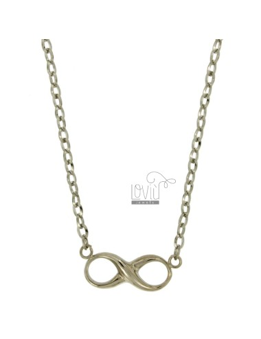 ENDLESS CHARM MM 12X30 IN BRONZE WITH CHAIN Ovalina CM 50