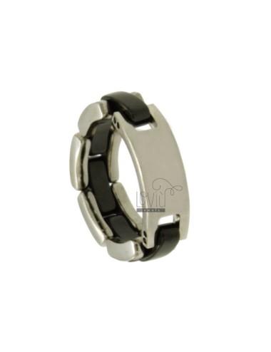 Stainless steel ribbon ring...