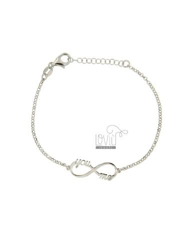 Rolo bracelet 'infinito you...