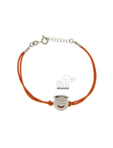 Armband mit orange silk...