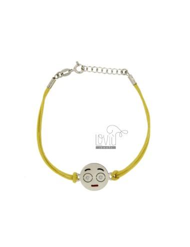 Armband mit gelber seide...