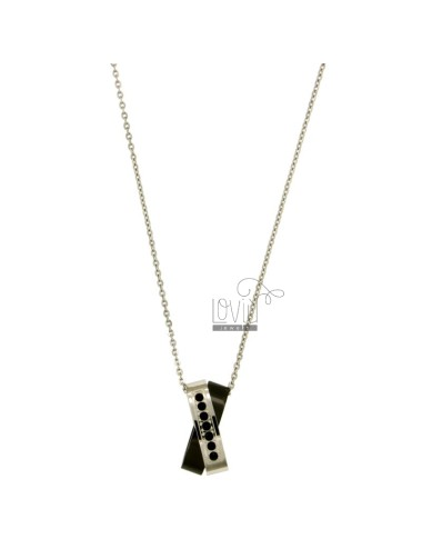 Pendant steel two tone...