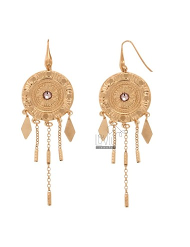 EARRINGS ZINGARA MM 95X30 SILVER COPPER TIT 925 ‰ AND CRYSTAL
