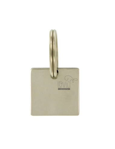 Steel key ring with square...
