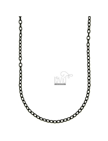 NECKLACE CABLE MM 3 STEEL PLATED RUTENIO CM 45