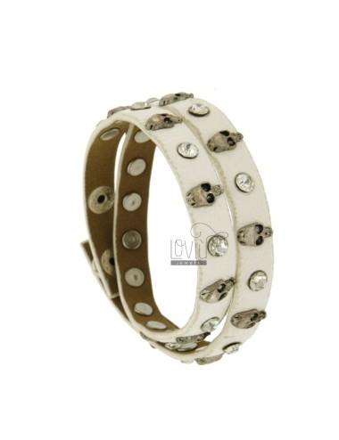 Bracelet in white leather...
