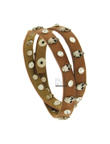 Bracelet brown leather and...