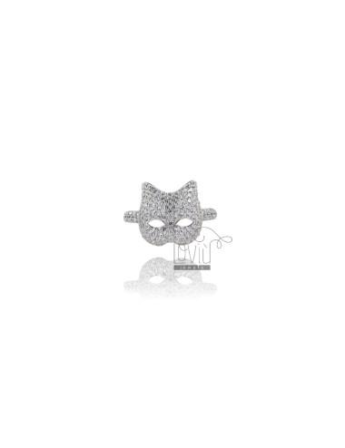 Ring.CAT IN SILBER RHODIUM...